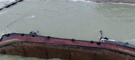 Из танкера Delfi снова произошла утечка нефтепродуктов