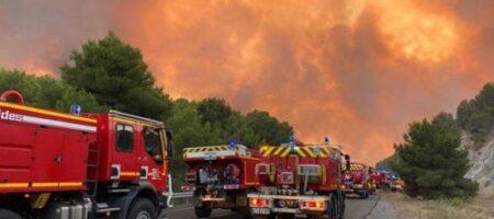 Франция оказалась в огненной ловушке: пожарные не справляются (ФОТО)