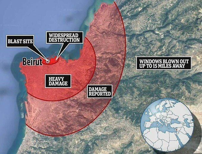 Стала известна предварительная причина ужасного взрыва в Бейруте
