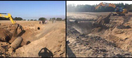 Под Киевом прорвало газопровод связывающий РФ с Европой (ВИДЕО)