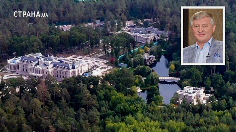 Фонтаны и озера: Ахметов въехал в свой новый дворец под Киевом (ВИДЕО)