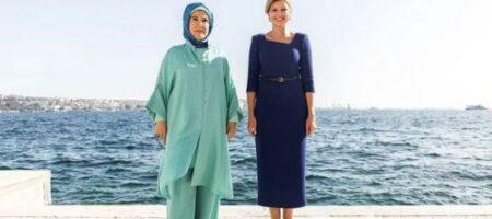 Встреча в Стамбуле: Елена Зеленская и жена Эрдогана запустили украиноязычный аудиогид в Долмабахче (ФОТО)