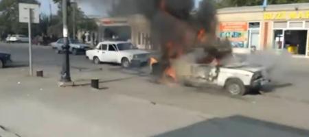 В Азербайджане город подвергся ракетному обстрелу