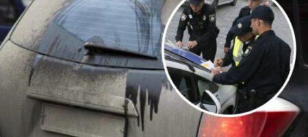Водителям сообщили, на сколько могут оштрафовать за грязные номера