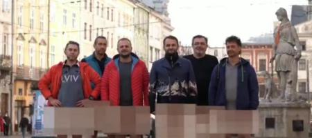 Львовские бизнесмены устроили голый протест, против карантина выходного дня (ВИДЕО)