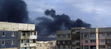 В Луганске партизаны сожгли склад с топливом террористов, фото