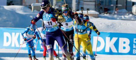 Украина выиграла бронзу женской эстафеты на чемпионата мира