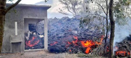 Вулканическая лава в Гватемале поглотила дом
