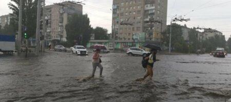Северодонецк затопило после сильного ливня