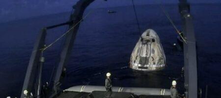 Первые космические туристы Маска вернулись на Землю