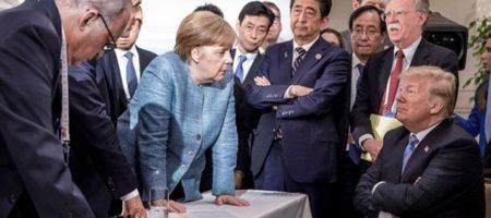 Дерзкий Трамп: президент США бросил Меркель конфеты на саммите G7