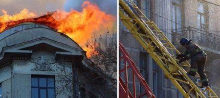 Пожар в Одессе: из под завалов начали доставать тела погибших (ВИДЕО)