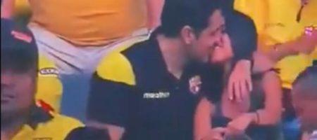 Тут и VAR не поможет: эквадорский фанат попался на измене во время матча