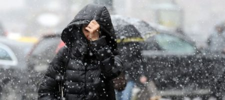 К Украине приближается снежная буря