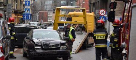 Украинец в Польше напился и протаранил 8 машин. ФОТО