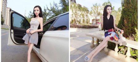 """Китайская блогерша весом 20 кг хвастается своей """"стройностью"""""""