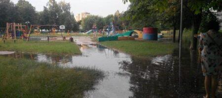 Мощный ливень затопил улицы Черкасс (ВИДЕО)