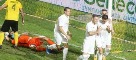 Колос победил Арис в дебютном матче в еврокубках