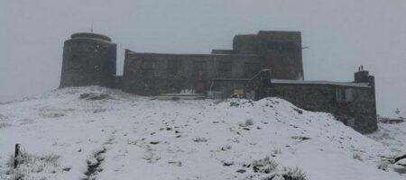 В Карпатах из-за резкого похолодания пошел снег (ФОТО)