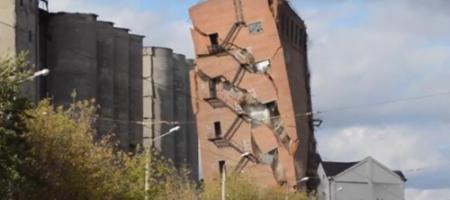 В Харькове на воздух взлетел заброшенный элеватор (ВИДЕО)