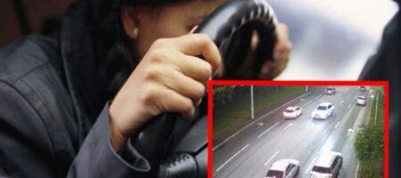Пьяная водитель на лысой резине решила устроить гонки по Киеву: в авто был ребенок (ВИДЕО)