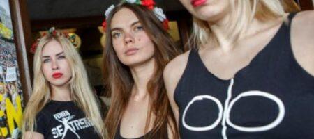 """В Одессе активистка FEMEN отличилась """"голым протестом"""". ФОТО"""