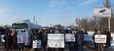 У полтавчан сдали нервы: трасса Киев-Харьков перекрыта активистами