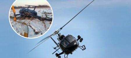 Под Борисполем разбился вертолет: фото и первые подробности