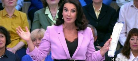 Пропагандистка Стриженова после слов о Байдене и Украине упала в студии и сломала руку (ВИДЕО)