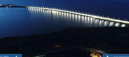 Огни Хаджибейского лимана: в Укравтодоре показали ночной мост (ФОТО)