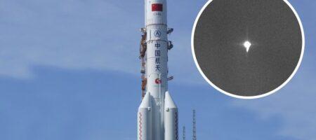 Никто не знает, куда попадет: появилось фото падающей на Землю 22-тонной ракеты