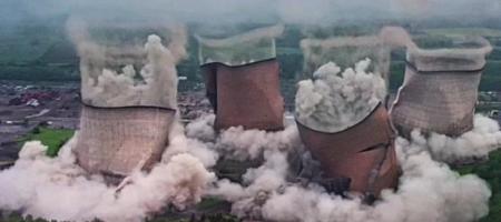 Взрыв британской ТЭЦ показали на ВИДЕО