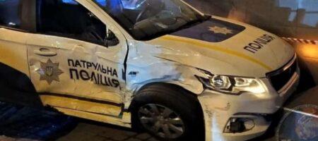 Во Львове джип сбил полицейское авто, сопровождавшее младенца в больницу