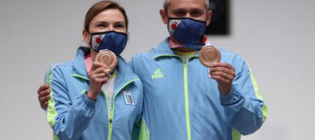 Костевич и Омельчук принесли Украине третью бронзу Олимпиады в стрельбе с пневматического пистолета на 10 метров